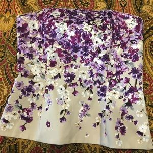 WHBM Floral Bustier Size 0